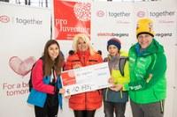 elektrabregenz unterstützt Pro Juventute bei der Eislauf-Charity von Kindern für Kinder